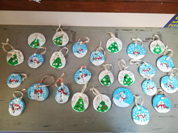 Senior Infants & First class Christmas decorations